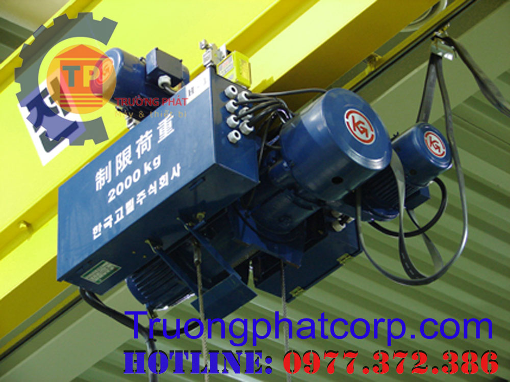 Pa lăng cáp điện 2 tấn 6 m hiệu KG Hàn Quốc